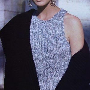 Women's Summer Top - Worsted Medium Weight Yarn - Sizes XS, S, M - Knitting Pattern