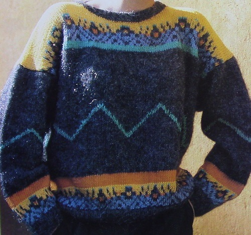 Fair Isle Pullover Knitting Pattern - 4 Ply Worsted Yarn - Sizes S, M, L, XL - Knitting Pattern