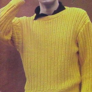 Knitted Mens Unisex Pullover Knitting Pattern - Sizes S, M, L, XL - 4 Ply Yarn Worsted - Long Sleeves and Boat Neck
