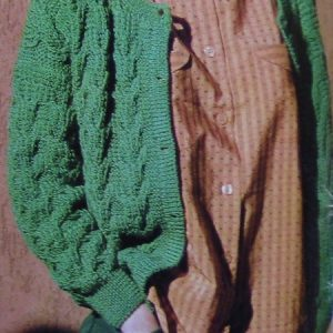 Cable Cardigan Knitting Pattern - Sizes S, M - Worsted 4 Ply Yarn