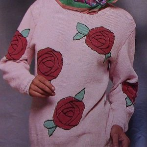 Women's Sweater in Fair-Isle Style - Long Sleeves - Sizes S, M, L - DK Yarn - Vintage Knitting Pattern