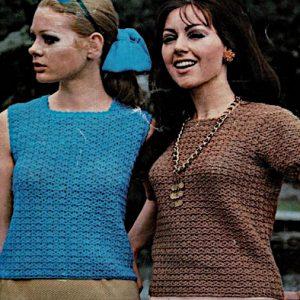 Texture Stitch Women's Top Crochet Pattern - Sizes XS, S, M - Fingering Yarn