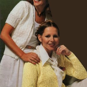 Women's Cardigan, Lace Stitch, Buttonless, Long Sleeves - Sizes XS, S, M, L - Lace or Fingering Yarn - Vintage Knitting Pattern