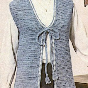 Easy Crochet Vest - DK Yarn - Sizes S, M, L -Vintage Pattern