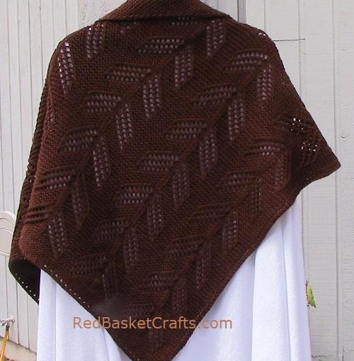 Cedar Leaf Shawl - Knitting Pattern - Worsted or DK Wool Yarn
