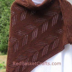 Cedar Leaf Shawl - Knitting Pattern - Worsted Yarn, DK Yarn